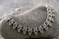 Warrior Princess chainmaille collar necklace