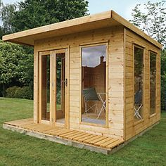 Cube x Ft. Tongue & Groove Summer House Home Essence Corner Summer House, Summer House Garden, Summer Houses, Garden Bar, Easy Garden, Garden Buildings, Garden Structures, Outdoor Structures, Garden Houses