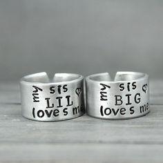 My Big Sis/Lil Sis Loves Me Ring Set