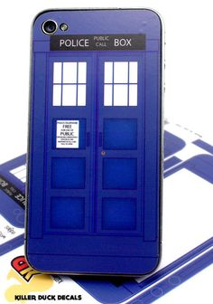 Tardis iPhone 4s Deluxe Skin by killerduckdecals on Etsy