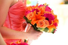 Tropical wedding bouquet! Excellence Playa Mujeres. Cancun, Mexico.