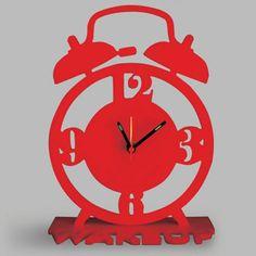 Naked Decor British Invasion Wake-Up Clock - wake-up-clock