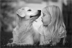 baby girl with her dog - - Pixdaus