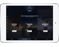Maserati -Ghibli - Ipad app on App Design Served