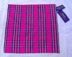 Polo Ralph Lauren 100% Silk Tartan/ Checked Pocket Square-BNWT / Gift - RRP £75 | eBay
