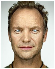 simpel portrait sting by martin schoeller,famous celebrity in film, fashion, art, music,beautiful fame, the wall of fame, collected by marald marijnissen