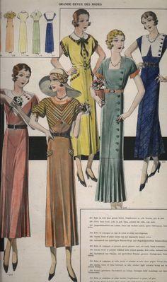 1933 French dress (Costumes.org via the Wayback Machine.)