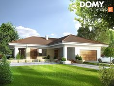 Aksamit 4 on Behance 4 Bedroom House Designs, Bungalow House Design, Bungalow House Plans, Cool House Designs, Model House Plan, My House Plans, Small House Plans, Beautiful House Plans, Duplex Design
