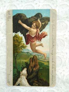 Antique Art, Mythology, Eagle, Antiques, Dogs, Painting, Ebay, Antiquities, Antique