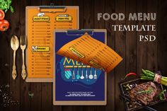 Restaurant Food Menu #bbq #bistro #burgermenu #cafe #creative #design #fastfood #flyer #food #foodmenu Restaurant Flyer, Restaurant Menu Template, Restaurant Recipes, Food Menu Template, Flyer Template, Burger Menu, Retro Recipes, Journal Cards, Design Bundles
