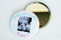 Taschenspiegel Handspiegel Kosmetikspiegel von Un-Art-Tick auf DaWanda.com