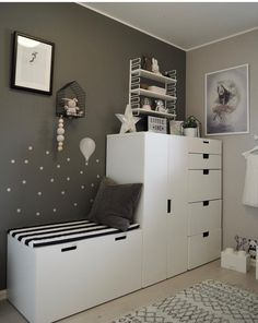 About - Kids Bedroom Inspirations - Kinderzimmer Bedroom Storage Ideas For Clothes, Bedroom Storage For Small Rooms, Clothes Storage, Baby Bedroom, Girls Bedroom, Bedroom Decor, Bedroom Furniture, Ikea Bedroom, Master Bedroom