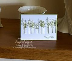 Thoughtful Branches - Stampin' Up! Tree Card (Stampin Up UK Demonstrator UK…