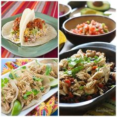 The BEST Slow Cooker Chicken Tacos from Food Bloggers - Slow Cooker or Pressure Cooker