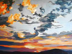 How to Paint a Sky | Sky's the Limit by Jean Ives, Victoria, BC, Canada