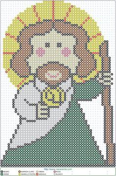 Jesus beads EN HAMA BEADS PATRON More