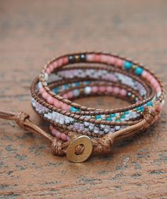 Bff Bracelets, Beaded Wrap Bracelets, Beaded Jewelry, How To Make Beads, Craft Fairs, Handcrafted Jewelry, Seed Beads, Jewelry Making, Coral