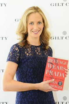 my absolute fav author Lauren Weisberger :) i can not wait to crack open Revenge Wears Prada