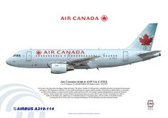 Air Canada Airbus A319-114 C-FZUL Airliner Art