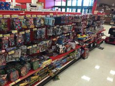 We were happy to see toys and games (and no junk food!) in this Target checkout aisle. (Target, Falls Church, VA, 8/15)