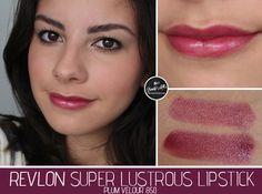 LIPSTICK - Glossy/Balmy - Revlon Super Lustrous Plum Velour