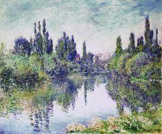 Клод Моне - Morning on the Seine, near Vetheuil, 1878. Клод Оскар Моне