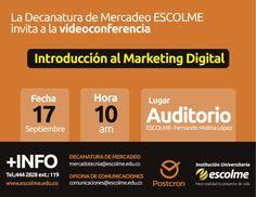 @Escolmeeduco ¿Quieres saber sobre el Marketing digital? No te pierdas la videoconferencia el 17 de septiembre