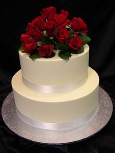 two tier wedding cakes | tier smooth buttercream