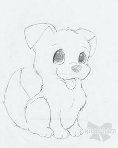 Dog Pencil Drawing Easy - Drawings Of Puppies Puppy Sketch By Kitty Ham Animal Drawings Dog Drawings In Pencil Easy For Kids Sketch Coloring Page Dog Pretty Dog Drawing Dog Fac. Puppy Drawing Easy, Dog Pencil Drawing, Dog Drawing Simple, Easy Pencil Drawings, Cute Animal Drawings, Drawing Ideas, Pencil Art, Puppy Drawings, Animal Sketches Easy