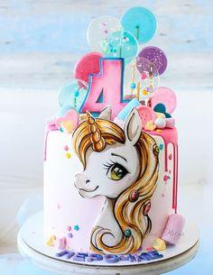 Cake Decorating Icing, Creative Cake Decorating, Creative Cakes, Cake Decorating Techniques, Elegant Birthday Cakes, Birthday Cake Girls, Girly Cakes, Cute Cakes, Bolo Sofia