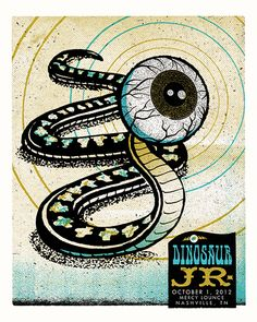 Silkscreen Poster Jr Nashville October 2012 - with a narcissist code Dinosaur Jr, Concert Posters, Music Posters, Best Color Schemes, Tour Posters, Illustrations Posters, Rock And Roll, Street Art, Poster Prints