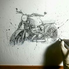 Cafe racer art