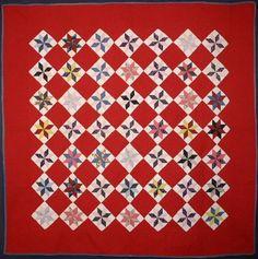 LeMoyne Stars Quilt: Circa 1880; Pa.
