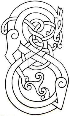Celtic ornament design from book of kells coloring page for Book of kells coloring pages