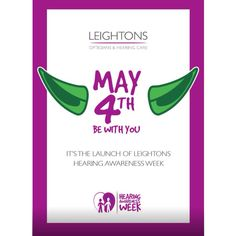 May the fourth be with us, book your FREE HEARING TEST now and support Hearing Awareness Week! Call our freephone on 0800 40 20 20 #Hearing #Leightons #HearingCare #StarWars #May4thbewithyou