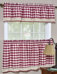 These classic Buffalo Check curtain Sets with Rod Pocket Headers will add a touch of charm to your windows. Each set includes: tailored valance, Tier Pair. Valance(Single): H x W. Gingham Curtains, Tier Curtains, Country Curtains, White Curtains, Velvet Curtains, Patterned Curtains, Purple Curtains, French Curtains, Luxury Curtains