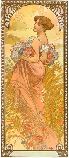 Mucha poster. Had a few of these on my wall  during my student years. So art nouveau!