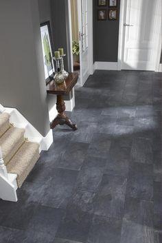Donker grijs marmer look tegellaminaat www.beboparket.nl
