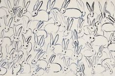 Hunt Slonem bunny paper