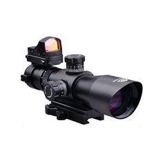 $135 Description: Trinity Force 3-9x42 Tactical Rifle Scope With illuminated P4 Range Estimating Reticle Pattern + Red Dot Micro Sized Backup Aiming Sight + Quick Detach Mount - This item fits Weaver Picatinny Rails , Hi-Point 4095 4595 Carbine , AR15 , Kel-Tec SU16 SU22 , S&W M&P 15-22 , Beretta CX4 CX9 AXR100 AXR160 , Mossberg 715t FLEX-22 , FN SCAR , ACR , Umarex 416 , Hk416 , Remington Model 597 Rifles m1surplus