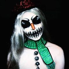 Frosty the Snowman ⛄❄ Day 9 of 25 days of Christmas #ohfcontest • • • • • #frostythesnowman #snowman #snowmanmakeup #christmasmakeup #holidaymakeup #facepaint #facepainting #bodypaint #paint #painting #makeup #motd #creativemakeup #fantasymakeup #cosplay #sfx #sfxmakeup #holidayinspo #winter #santa #thehorrorhub #horror_sketches #beardedhorror #morphebrushes #winter #nyx #jordanhanz #ellimacssfx