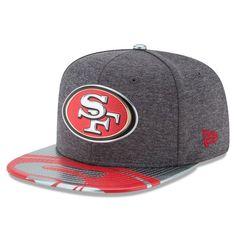 San Francisco 49ers New Era Youth 2017 NFL Draft Spotlight Original Fit 9FIFTY Snapback Adjustable Hat - Graphite - $31.99