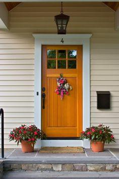 trim around doors and windows *house number on trim above door
