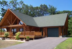 Meadow Valley Log Homes-The Pine Cove I would flip the bedroom and kitchen though so kitchen is closer to garage.