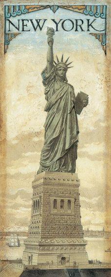"""Statua della libertà New York, 8 """"x 20"""""""