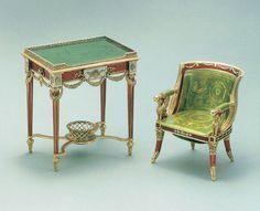 Faberge Print Mini Table Bonbonniere Mini Chair by ThePreciousPast