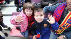 Take your children with you to support and see, up close, the magic of Messi, Xavi, Iniesta, Puyol, and company. This is a unique and unforgettable experience for the whole family #barcelona #FCB #Campnou #kids #Children #family #footbal #activity