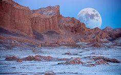 Valle de la luna, Desierto de Atacama ,Chile.
