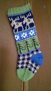 Knitting Patterns Christmas Ravelry: Rustic Fair Isle Christmas Stockings pattern by Lindsay Goodall Knitted Christmas Stocking Patterns, Cute Christmas Stockings, Christmas Knitting, Fair Isle Knitting Patterns, Fair Isle Pattern, Knit Patterns, Knitting Projects, Knitting Ideas, Knitted Blankets