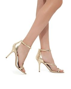 Effortlessly elegant, these heels feature slim straps